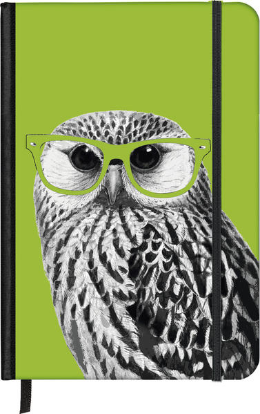 SoftTouch Notebook Nerdy Owl 9x14 - Coverbild