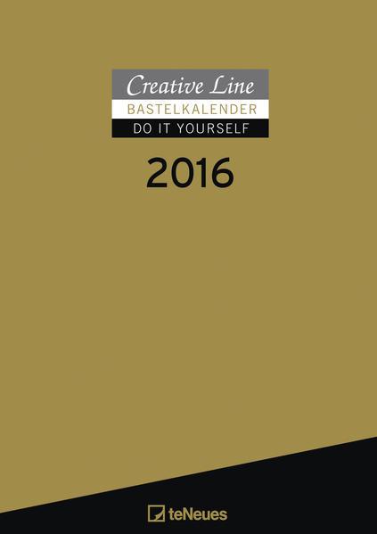 Bastelkalender 2016 gold - Coverbild