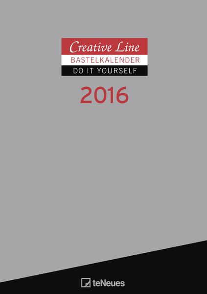 Bastelkalender 2016 silber - Coverbild