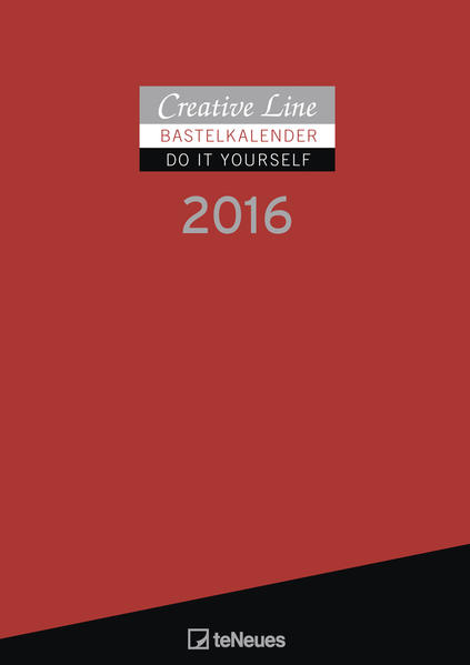 Bastelkalender 2016 rot - Coverbild