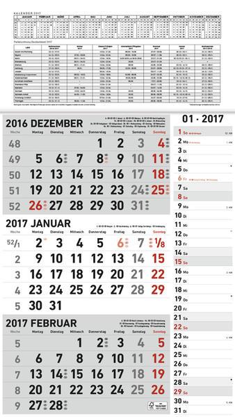 3 - Monatsplaner 2017 grau - Coverbild