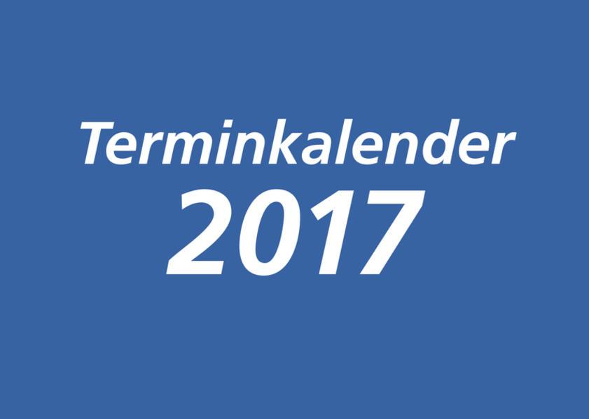Terminkalender 2017 - Blau - 29,5 x 21 cm - Coverbild