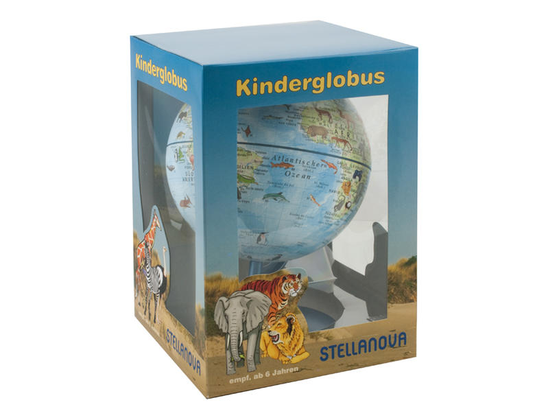 15 cm Kinder-Globus Stellanova Welt der Tiere - Coverbild