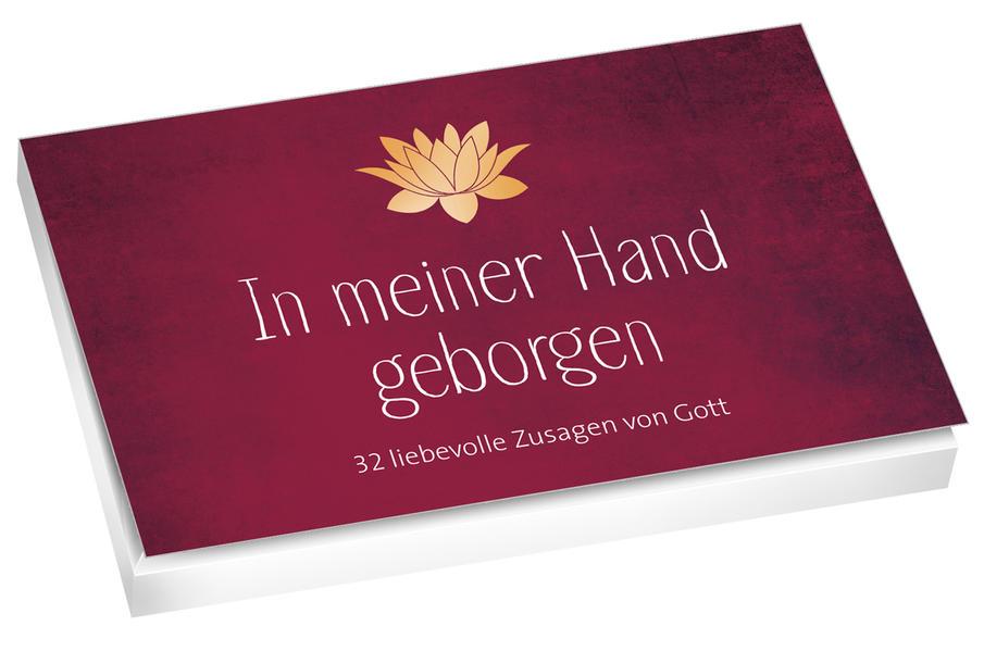 In meiner Hand geborgen - Textkarten - Coverbild