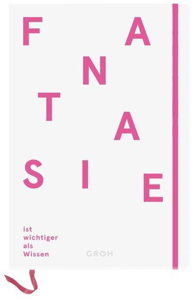 Notizbuch Fantasie ist wichtiger als Wissen, denn Wissen ist begrenzt - Coverbild