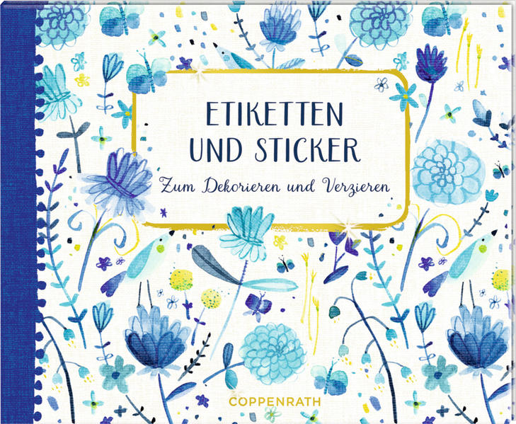 Stickerbuch - Etiketten und Sticker (All about blue) - Coverbild