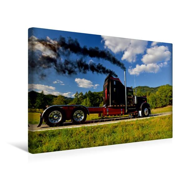 Premium Textil-Leinwand 45 cm x 30 cm quer, Ein Motiv aus dem Kalender Kenworth W900A EXTHD   Wandbild, Bild auf Keilrahmen, Fertigbild auf echter Leinwand, Leinwanddruck - Coverbild