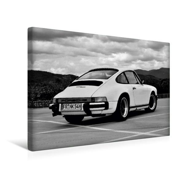 Premium Textil-Leinwand 45 cm x 30 cm quer, Ein Motiv aus dem Kalender Porsche 911 SC | Wandbild, Bild auf Keilrahmen, Fertigbild auf echter Leinwand, Leinwanddruck - Coverbild