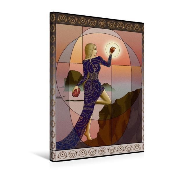 Premium Textil-Leinwand 50 cm x 75 cm hoch, Der Lebensweg | Wandbild, Bild auf Keilrahmen, Fertigbild auf echter Leinwand, Leinwanddruck - Coverbild