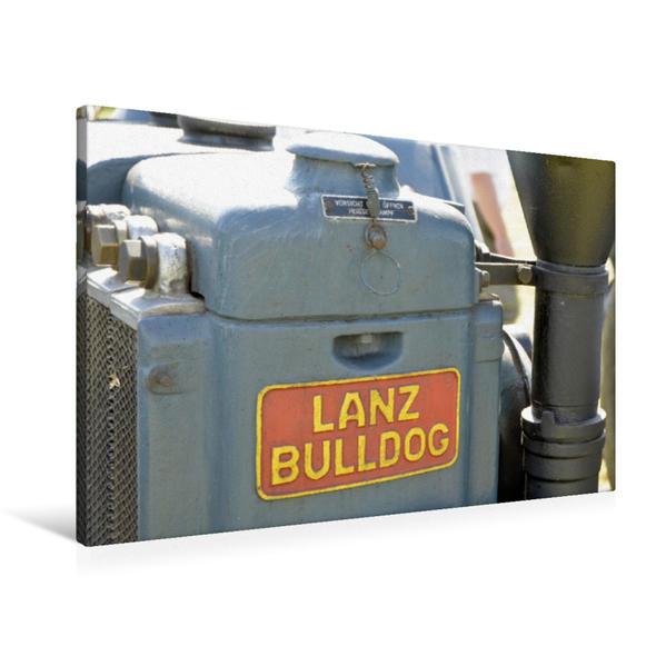 Premium Textil-Leinwand 90 cm x 60 cm quer, Oldtimer Traktor Lanz Bulldog | Wandbild, Bild auf Keilrahmen, Fertigbild auf echter Leinwand, Leinwanddruck - Coverbild