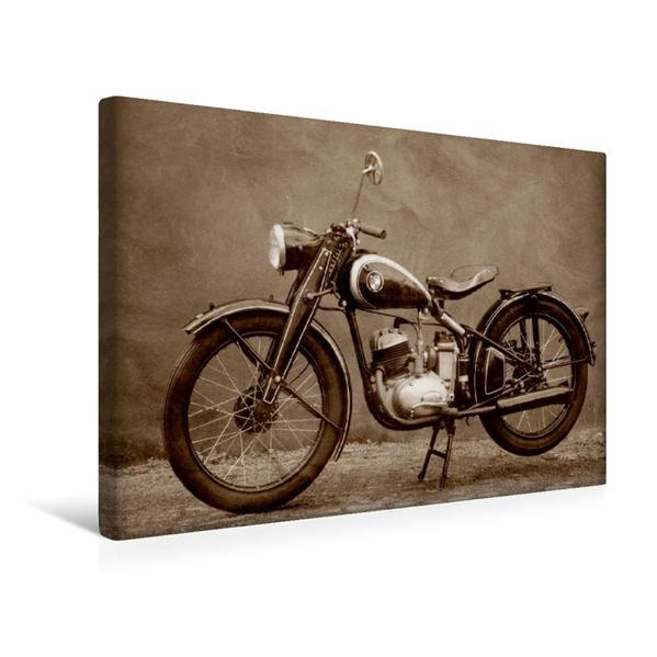 Premium Textil-Leinwand 45 cm x 30 cm quer, Puch 125 T | Wandbild, Bild auf Keilrahmen, Fertigbild auf echter Leinwand, Leinwanddruck - Coverbild