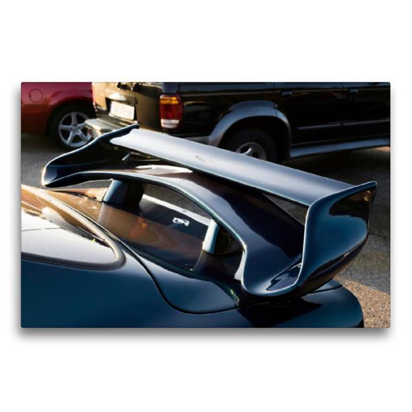 Premium Textil-Leinwand 75 cm x 50 cm quer, Opel Manta | Wandbild, Bild auf Keilrahmen, Fertigbild auf echter Leinwand, Leinwanddruck - Coverbild