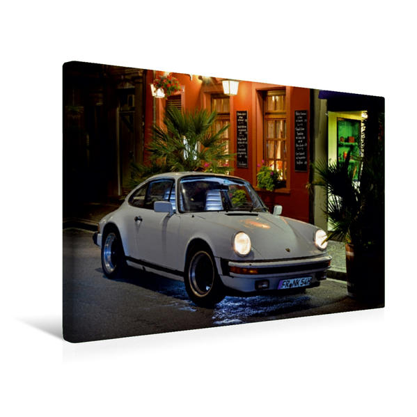 Premium Textil-Leinwand 45 cm x 30 cm quer, Ein Motiv aus dem Kalender Porsche 911 SC pure Ästhetik   Wandbild, Bild auf Keilrahmen, Fertigbild auf echter Leinwand, Leinwanddruck - Coverbild