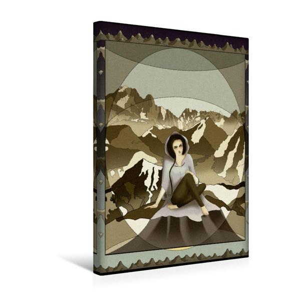 Premium Textil-Leinwand 30 cm x 45 cm hoch, Die Alpen   Wandbild, Bild auf Keilrahmen, Fertigbild auf echter Leinwand, Leinwanddruck - Coverbild