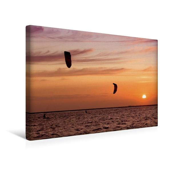 Premium Textil-Leinwand 45 cm x 30 cm quer, Am Nordstrand   Wandbild, Bild auf Keilrahmen, Fertigbild auf echter Leinwand, Leinwanddruck - Coverbild