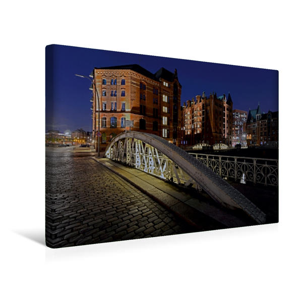 Premium Textil-Leinwand 45 cm x 30 cm quer, Kannengießerbrücke | Wandbild, Bild auf Keilrahmen, Fertigbild auf echter Leinwand, Leinwanddruck - Coverbild