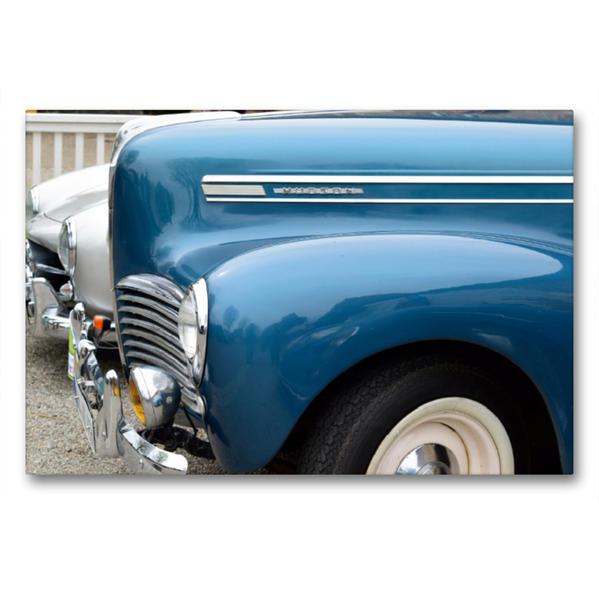 Premium Textil-Leinwand 90 cm x 60 cm quer, Kotflügel Hudson   Wandbild, Bild auf Keilrahmen, Fertigbild auf echter Leinwand, Leinwanddruck - Coverbild