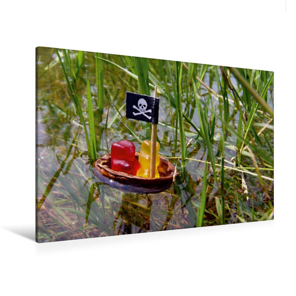 Premium Textil-Leinwand 120 cm x 80 cm quer, Ein Motiv aus dem Kalender Wir sind eingeladen - Kinder-Geburtstagsplaner | Wandbild, Bild auf Keilrahmen, Fertigbild auf echter Leinwand, Leinwanddruck - Coverbild