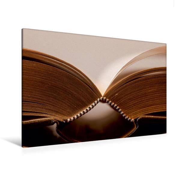 Premium Textil-Leinwand 120 cm x 80 cm quer, Ein Motiv aus dem Kalender Welt der Bücher | Wandbild, Bild auf Keilrahmen, Fertigbild auf echter Leinwand, Leinwanddruck - Coverbild