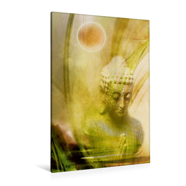 Premium Textil-Leinwand 80 cm x 120 cm  hoch, Ein Motiv aus dem Kalender Buddha / Planer   Wandbild, Bild auf Keilrahmen, Fertigbild auf echter Leinwand, Leinwanddruck - Coverbild