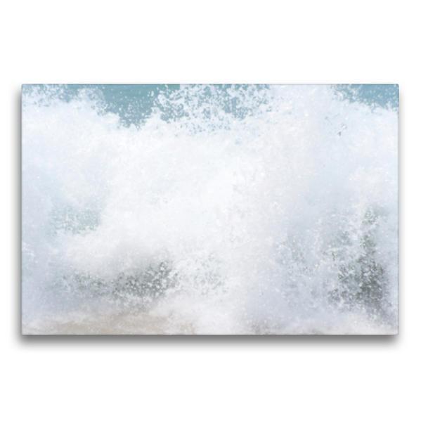 Premium Textil-Leinwand 75 cm x 50 cm quer, Ein Motiv aus dem Kalender Der Zauber der Wellen   Wandbild, Bild auf Keilrahmen, Fertigbild auf echter Leinwand, Leinwanddruck - Coverbild