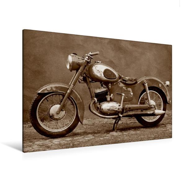 Premium Textil-Leinwand 120 cm x 80 cm quer, Puch 125 SV | Wandbild, Bild auf Keilrahmen, Fertigbild auf echter Leinwand, Leinwanddruck - Coverbild
