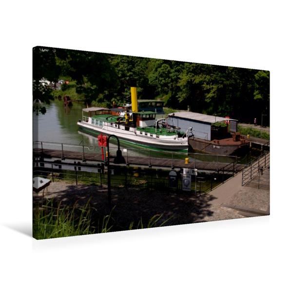 Premium Textil-Leinwand 75 cm x 50 cm quer, Ein Motiv aus dem Kalender Schiffshebewerk | Wandbild, Bild auf Keilrahmen, Fertigbild auf echter Leinwand, Leinwanddruck - Coverbild