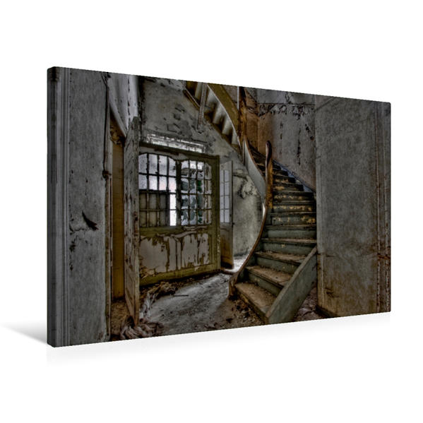 Premium Textil-Leinwand 75 cm x 50 cm quer, Ein Motiv aus dem Kalender Vergessene Orte | Wandbild, Bild auf Keilrahmen, Fertigbild auf echter Leinwand, Leinwanddruck - Coverbild