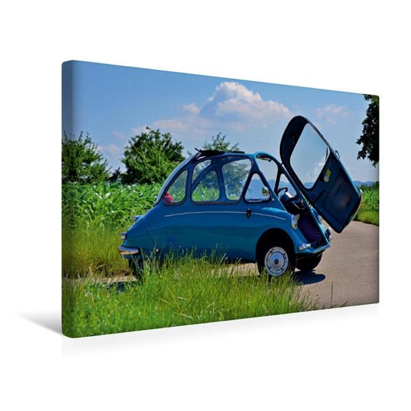 Premium Textil-Leinwand 45 cm x 30 cm quer, Ein Motiv aus dem Kalender Heinkel Kabinenroller Typ 154 | Wandbild, Bild auf Keilrahmen, Fertigbild auf echter Leinwand, Leinwanddruck - Coverbild