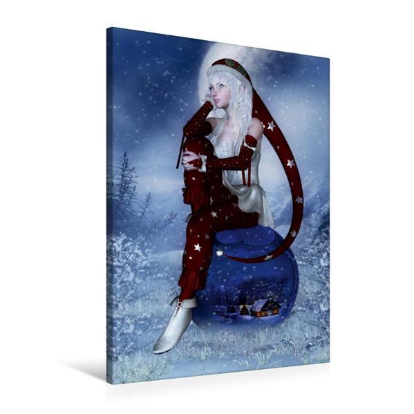 Premium Textil-Leinwand 60 cm x 90 cm hoch, Weihnachtstraum | Wandbild, Bild auf Keilrahmen, Fertigbild auf echter Leinwand, Leinwanddruck - Coverbild