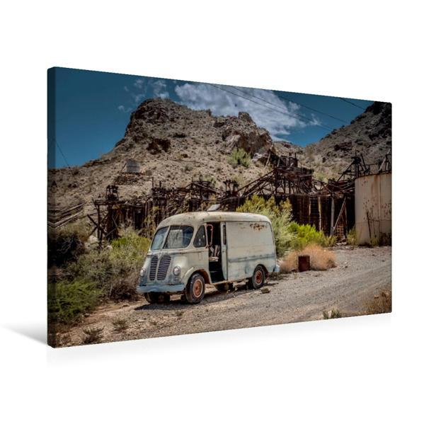 Premium Textil-Leinwand 75 cm x 50 cm quer, Zeitzeugen entlang der Route66   Wandbild, Bild auf Keilrahmen, Fertigbild auf echter Leinwand, Leinwanddruck - Coverbild
