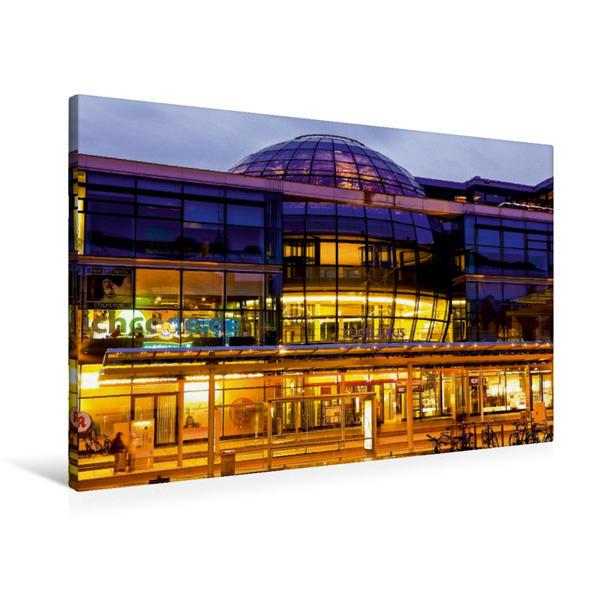 Premium Textil-Leinwand 90 cm x 60 cm quer, Kugelhaus am Wiener Platz | Wandbild, Bild auf Keilrahmen, Fertigbild auf echter Leinwand, Leinwanddruck - Coverbild