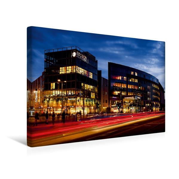 Premium Textil-Leinwand 45 cm x 30 cm quer, Geschäftshäuser am Dr.-Külz-Ring | Wandbild, Bild auf Keilrahmen, Fertigbild auf echter Leinwand, Leinwanddruck - Coverbild