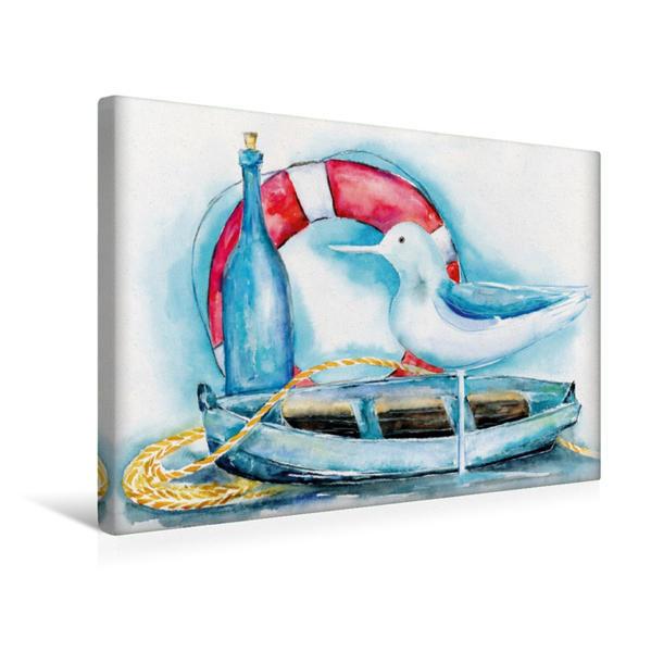 Premium Textil-Leinwand 45 cm x 30 cm quer, Maritim   Wandbild, Bild auf Keilrahmen, Fertigbild auf echter Leinwand, Leinwanddruck - Coverbild