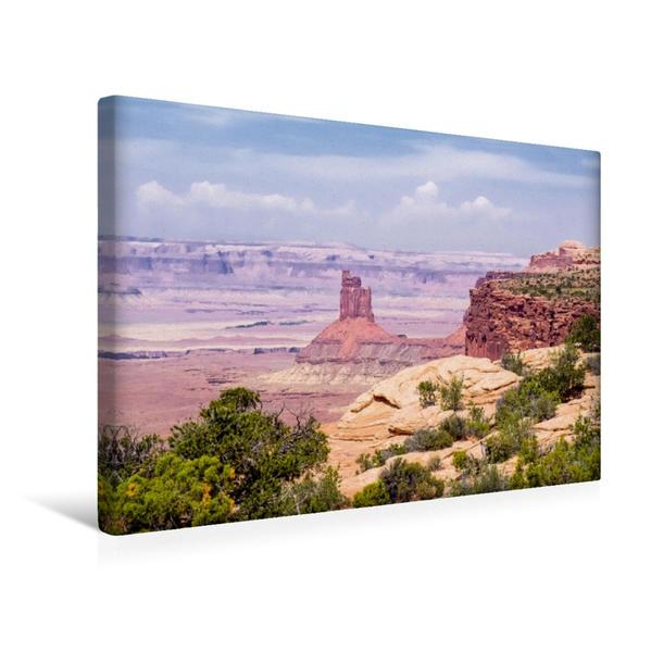 Premium Textil-Leinwand 45 cm x 30 cm quer, Canyonlands | Wandbild, Bild auf Keilrahmen, Fertigbild auf echter Leinwand, Leinwanddruck - Coverbild