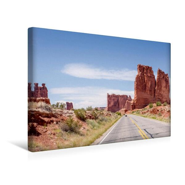 Premium Textil-Leinwand 45 cm x 30 cm quer, Utah | Wandbild, Bild auf Keilrahmen, Fertigbild auf echter Leinwand, Leinwanddruck - Coverbild
