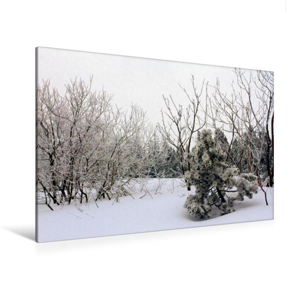 Premium Textil-Leinwand 120 cm x 80 cm quer, Ein Motiv aus dem Kalender Wintermärchen . Schliffkopf-Impressionen   Wandbild, Bild auf Keilrahmen, Fertigbild auf echter Leinwand, Leinwanddruck - Coverbild