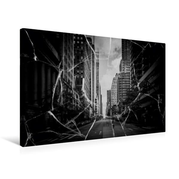 Premium Textil-Leinwand 75 cm x 50 cm quer, Das Loch   Wandbild, Bild auf Keilrahmen, Fertigbild auf echter Leinwand, Leinwanddruck - Coverbild