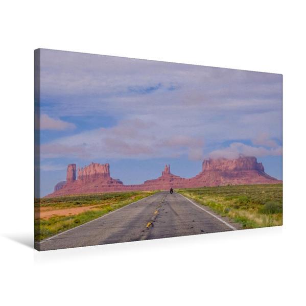 Premium Textil-Leinwand 75 cm x 50 cm quer, Monument Valley   Wandbild, Bild auf Keilrahmen, Fertigbild auf echter Leinwand, Leinwanddruck - Coverbild