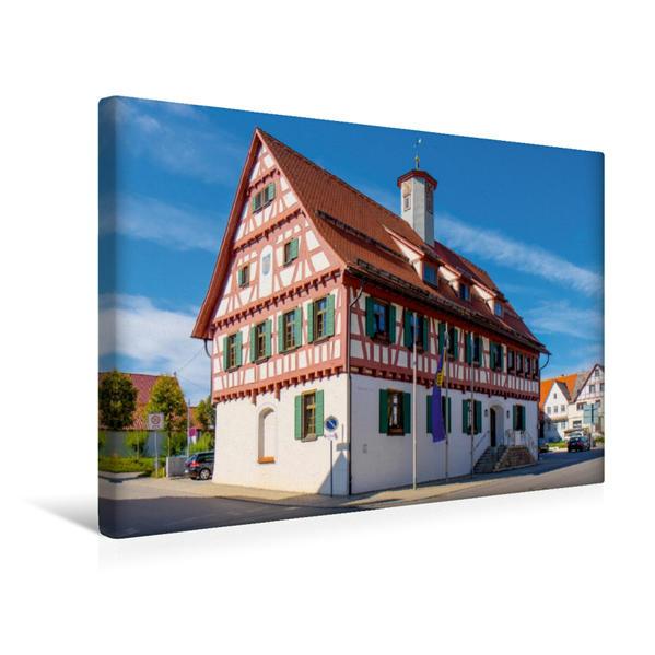 Premium Textil-Leinwand 45 cm x 30 cm quer, Altes Rathaus | Wandbild, Bild auf Keilrahmen, Fertigbild auf echter Leinwand, Leinwanddruck - Coverbild