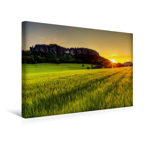 Premium Textil-Leinwand 45 cm x 30 cm quer, Der Pfaffenstein   Wandbild, Bild auf Keilrahmen, Fertigbild auf echter Leinwand, Leinwanddruck - Coverbild
