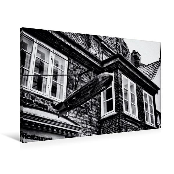 Premium Textil-Leinwand 90 cm x 60 cm quer, Eckener Haus | Wandbild, Bild auf Keilrahmen, Fertigbild auf echter Leinwand, Leinwanddruck - Coverbild