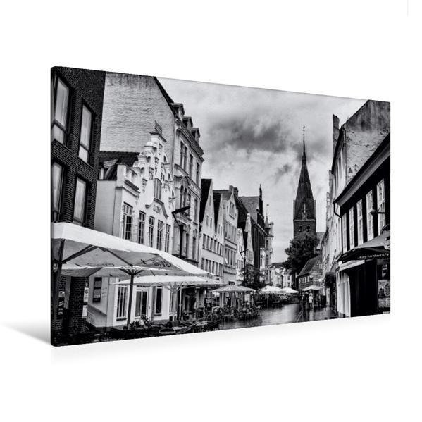 Premium Textil-Leinwand 120 cm x 80 cm quer, Museumsberg Flensburg   Wandbild, Bild auf Keilrahmen, Fertigbild auf echter Leinwand, Leinwanddruck - Coverbild