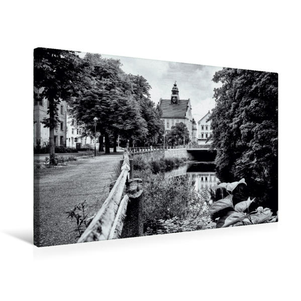 Premium Textil-Leinwand 75 cm x 50 cm quer, Fabrikstraße | Wandbild, Bild auf Keilrahmen, Fertigbild auf echter Leinwand, Leinwanddruck - Coverbild