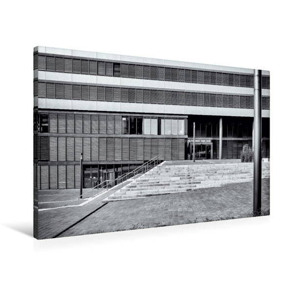 Premium Textil-Leinwand 90 cm x 60 cm quer, Universität | Wandbild, Bild auf Keilrahmen, Fertigbild auf echter Leinwand, Leinwanddruck - Coverbild