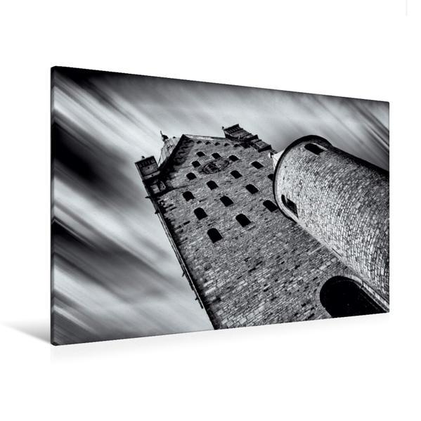 Premium Textil-Leinwand 120 cm x 80 cm quer, Domturm | Wandbild, Bild auf Keilrahmen, Fertigbild auf echter Leinwand, Leinwanddruck - Coverbild