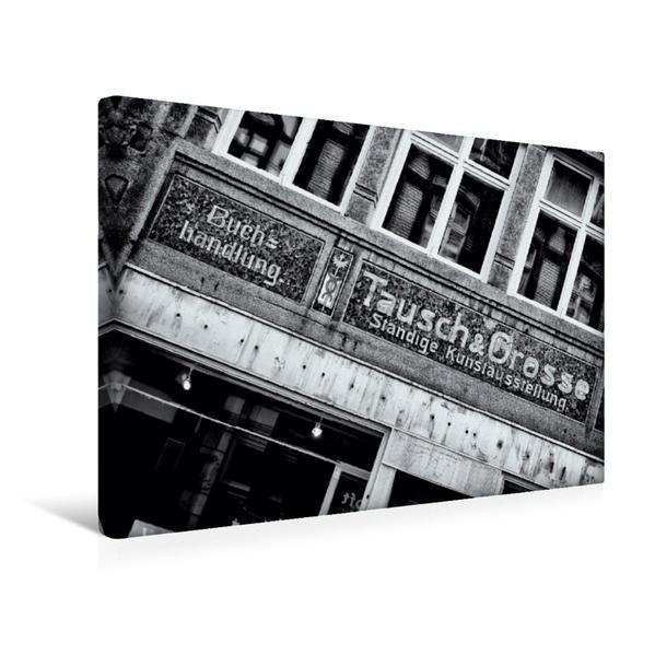 Premium Textil-Leinwand 45 cm x 30 cm quer, Alte Ladenfassade | Wandbild, Bild auf Keilrahmen, Fertigbild auf echter Leinwand, Leinwanddruck - Coverbild