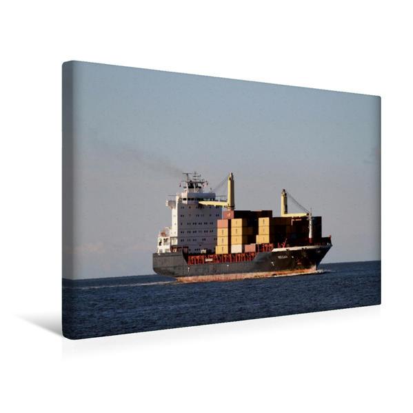 Premium Textil-Leinwand 45 cm x 30 cm quer, Ein Motiv aus dem Kalender Dicke Pötte im Hafen und auf großer Fahrt | Wandbild, Bild auf Keilrahmen, Fertigbild auf echter Leinwand, Leinwanddruck - Coverbild