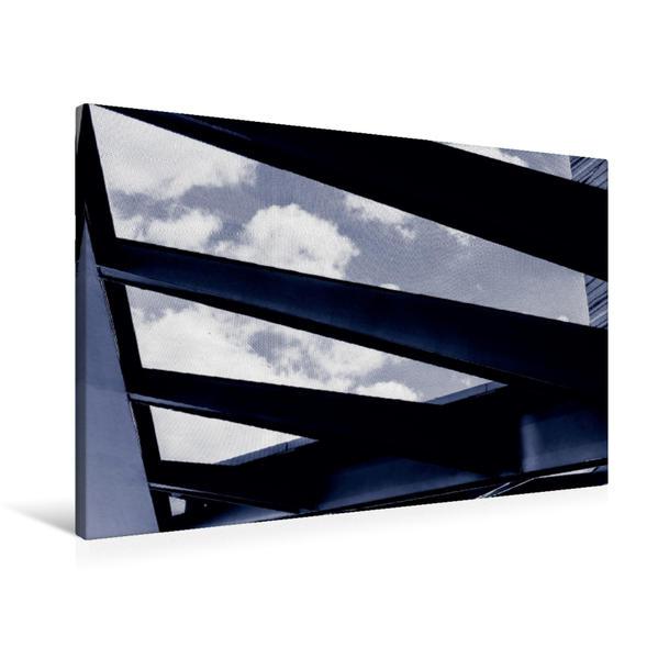 Premium Textil-Leinwand 90 cm x 60 cm quer, Frankfurt/Main | Wandbild, Bild auf Keilrahmen, Fertigbild auf echter Leinwand, Leinwanddruck - Coverbild