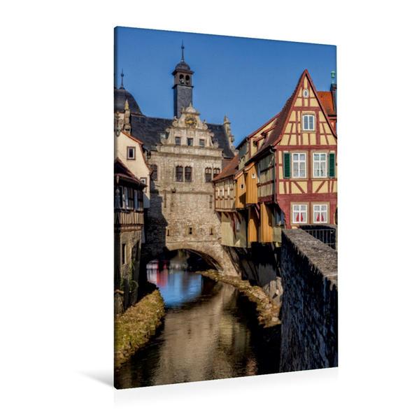 Premium Textil-Leinwand 80 cm x 120 cm  hoch, Malerwinkelhaus in Marktbreit   Wandbild, Bild auf Keilrahmen, Fertigbild auf echter Leinwand, Leinwanddruck - Coverbild